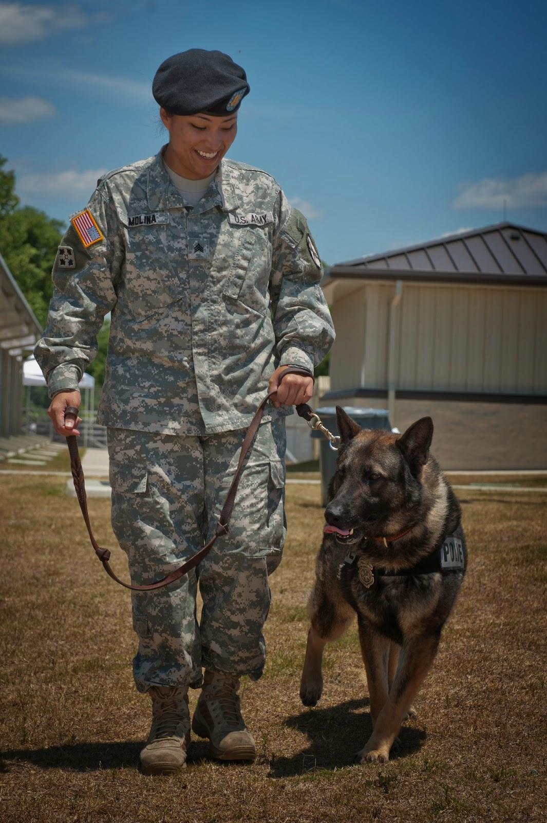 Female handler and MWD