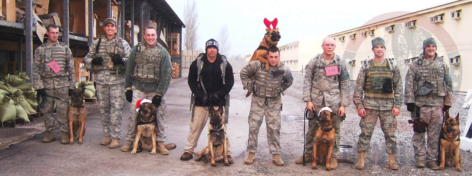 Handlers celebrating Christmas