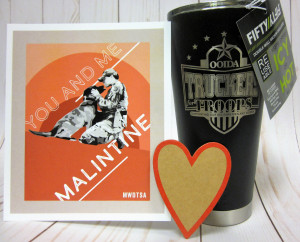 This handsome FIFTY/FIFTY 20-ounce tumbler displays the Truckers for Troops logo.