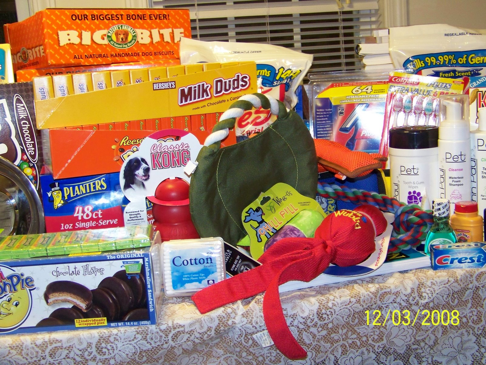 Items donated by Ms. Wilson