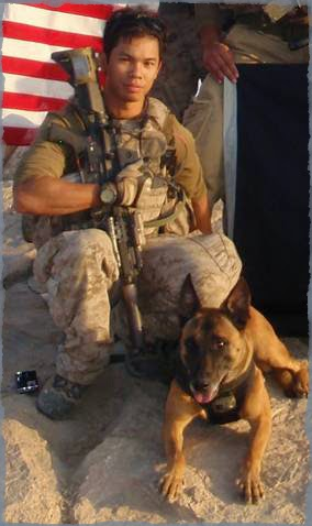 John Douangdara and MWD Bart