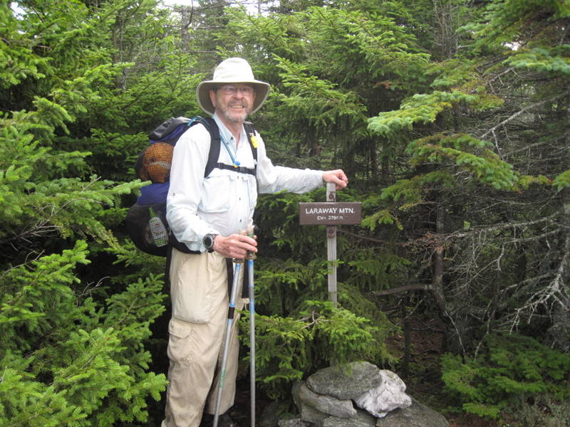 Jonathan Wahl on long hike in the mountains