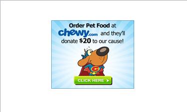 Chewy.com fundraising logo