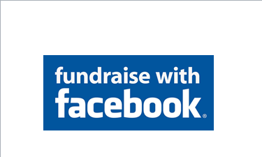 Fundraise with Facebook logo.
