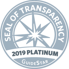 GuideStar 2019 Platinum Seal logo.