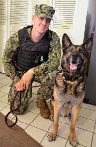 Photo shows MASN Noonan and his handsome partner, MWD Mirko.