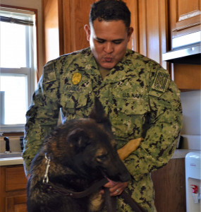 This photo shows Kennel Master MA1 Aguilar with MWD Sindy.
