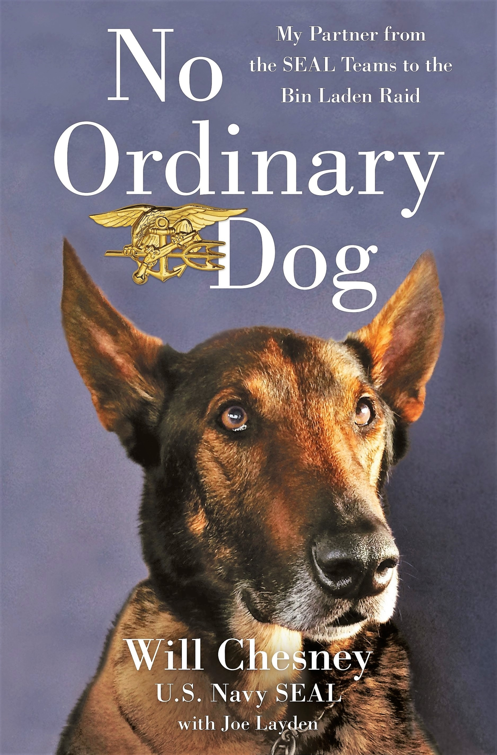This image shows the cover of No Ordinary Dog by retired Navy SEAL Will Chesney and co-author Joe Layden.