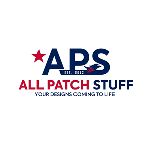 This is the logo for APS, which stands for All Patch Stuff. The tagline is