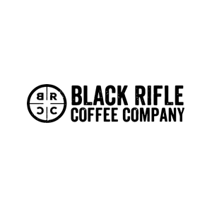 This is the logo of Black Rifle Coffee Company, one of MWDTSA's sponsors.