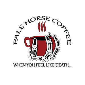 This is the logo of Pale Horse Coffee, one of MWDTSA's sponsors.