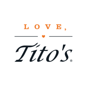 This is the logo for Love, Tito's, an MWDTSA Sponsor