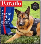 """Parade magazine cover """"A Marine's Best Friend"""" featuring MWD Lucca"""